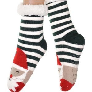 Angelina Sherpa Lined Santa Slipper Socks